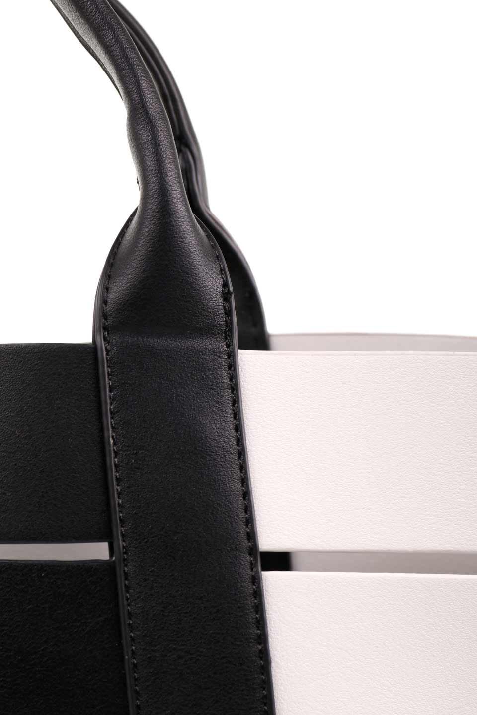 meliebiancoのCamille(Black)ポーチ付き・バイカラートートバッグ/海外ファッション好きにオススメのインポートバッグとかばん、MelieBianco(メリービアンコ)のバッグやトートバッグ。便利なインナーバッグが付いた涼しげなトートバッグ。ボーダー柄にも見えるシースルーのデザインがとても可愛いバッグです。/main-10