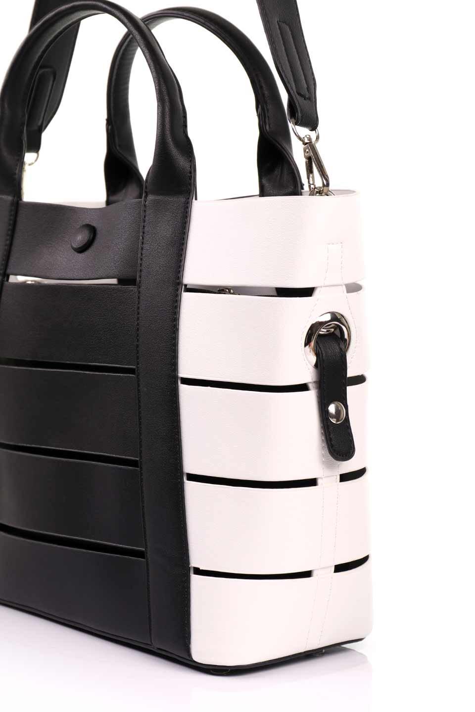 meliebiancoのCamille(Black)ポーチ付き・バイカラートートバッグ/海外ファッション好きにオススメのインポートバッグとかばん、MelieBianco(メリービアンコ)のバッグやトートバッグ。便利なインナーバッグが付いた涼しげなトートバッグ。ボーダー柄にも見えるシースルーのデザインがとても可愛いバッグです。/main-11