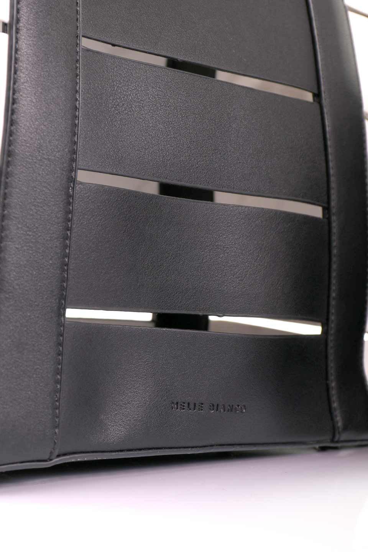 meliebiancoのCamille(Black)ポーチ付き・バイカラートートバッグ/海外ファッション好きにオススメのインポートバッグとかばん、MelieBianco(メリービアンコ)のバッグやトートバッグ。便利なインナーバッグが付いた涼しげなトートバッグ。ボーダー柄にも見えるシースルーのデザインがとても可愛いバッグです。/main-13