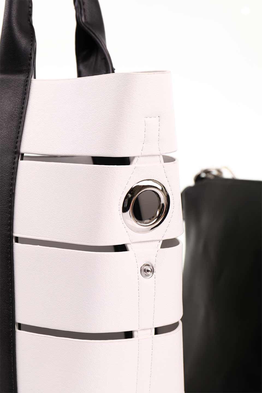 meliebiancoのCamille(Black)ポーチ付き・バイカラートートバッグ/海外ファッション好きにオススメのインポートバッグとかばん、MelieBianco(メリービアンコ)のバッグやトートバッグ。便利なインナーバッグが付いた涼しげなトートバッグ。ボーダー柄にも見えるシースルーのデザインがとても可愛いバッグです。/main-15