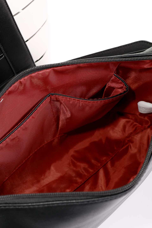 meliebiancoのCamille(Black)ポーチ付き・バイカラートートバッグ/海外ファッション好きにオススメのインポートバッグとかばん、MelieBianco(メリービアンコ)のバッグやトートバッグ。便利なインナーバッグが付いた涼しげなトートバッグ。ボーダー柄にも見えるシースルーのデザインがとても可愛いバッグです。/main-18