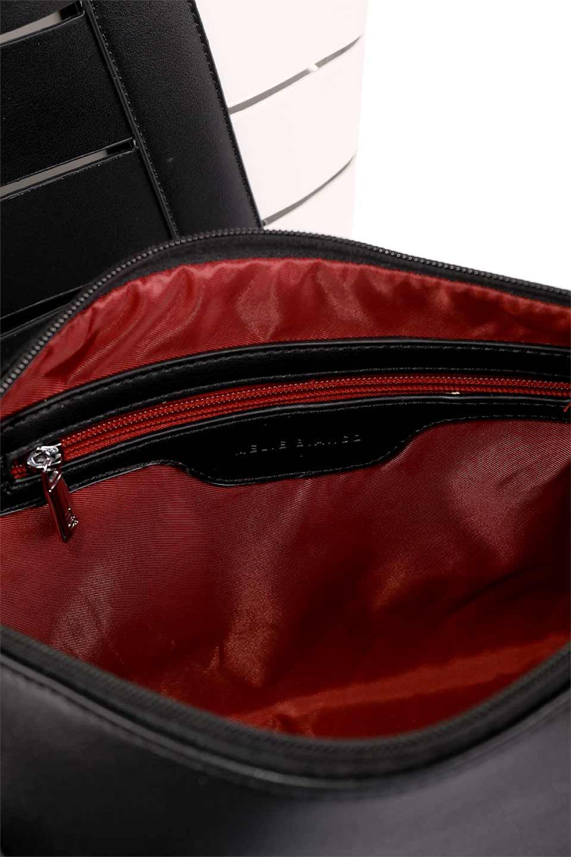 meliebiancoのCamille(Black)ポーチ付き・バイカラートートバッグ/海外ファッション好きにオススメのインポートバッグとかばん、MelieBianco(メリービアンコ)のバッグやトートバッグ。便利なインナーバッグが付いた涼しげなトートバッグ。ボーダー柄にも見えるシースルーのデザインがとても可愛いバッグです。/main-19