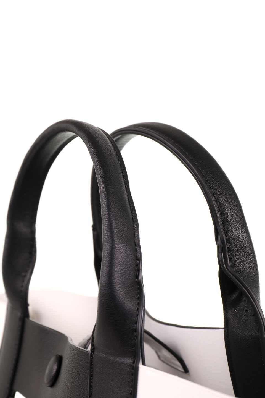 meliebiancoのCamille(Black)ポーチ付き・バイカラートートバッグ/海外ファッション好きにオススメのインポートバッグとかばん、MelieBianco(メリービアンコ)のバッグやトートバッグ。便利なインナーバッグが付いた涼しげなトートバッグ。ボーダー柄にも見えるシースルーのデザインがとても可愛いバッグです。/main-9