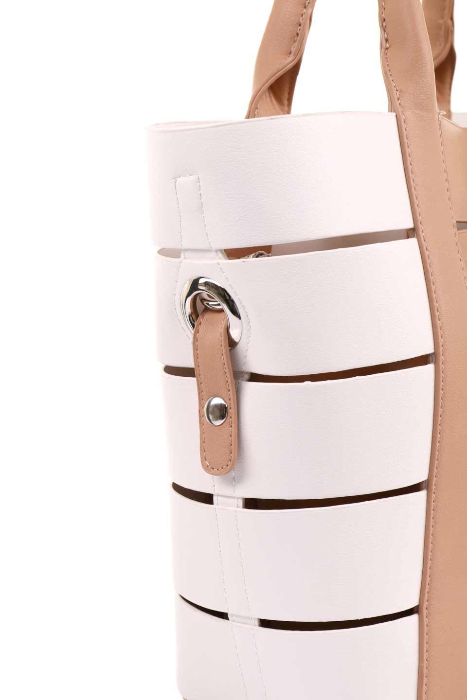 meliebiancoのCamille(Nude)ポーチ付き・バイカラートートバッグ/海外ファッション好きにオススメのインポートバッグとかばん、MelieBianco(メリービアンコ)のバッグやトートバッグ。便利なインナーバッグが付いた涼しげなトートバッグ。ボーダー柄にも見えるシースルーのデザインがとても可愛いバッグです。/main-11