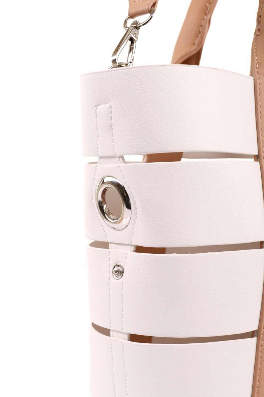 meliebiancoのCamille(Nude)ポーチ付き・バイカラートートバッグ/海外ファッション好きにオススメのインポートバッグとかばん、MelieBianco(メリービアンコ)のバッグやトートバッグ。便利なインナーバッグが付いた涼しげなトートバッグ。ボーダー柄にも見えるシースルーのデザインがとても可愛いバッグです。/main-12
