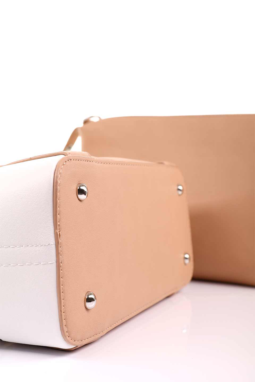 meliebiancoのCamille(Nude)ポーチ付き・バイカラートートバッグ/海外ファッション好きにオススメのインポートバッグとかばん、MelieBianco(メリービアンコ)のバッグやトートバッグ。便利なインナーバッグが付いた涼しげなトートバッグ。ボーダー柄にも見えるシースルーのデザインがとても可愛いバッグです。/main-19