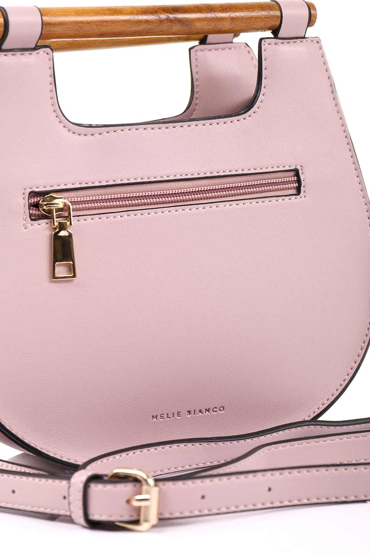 meliebiancoのIrene(Lavender)ウッドハンドル・ラウンドバッグ/海外ファッション好きにオススメのインポートバッグとかばん、MelieBianco(メリービアンコ)のバッグやハンドバッグ。木製の持ち手がシックで可愛いショルダータイプのラウンドバッグ。小ぶりに見えますがマチ幅もあり見た目以上の収納力があります。/main-12