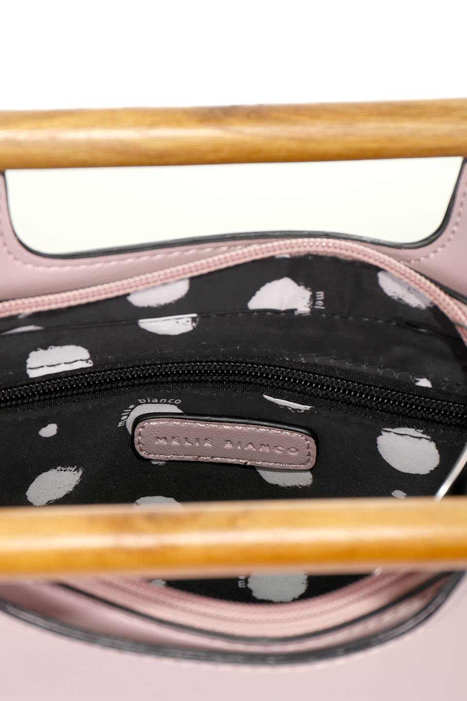 meliebiancoのIrene(Lavender)ウッドハンドル・ラウンドバッグ/海外ファッション好きにオススメのインポートバッグとかばん、MelieBianco(メリービアンコ)のバッグやハンドバッグ。木製の持ち手がシックで可愛いショルダータイプのラウンドバッグ。小ぶりに見えますがマチ幅もあり見た目以上の収納力があります。/main-14
