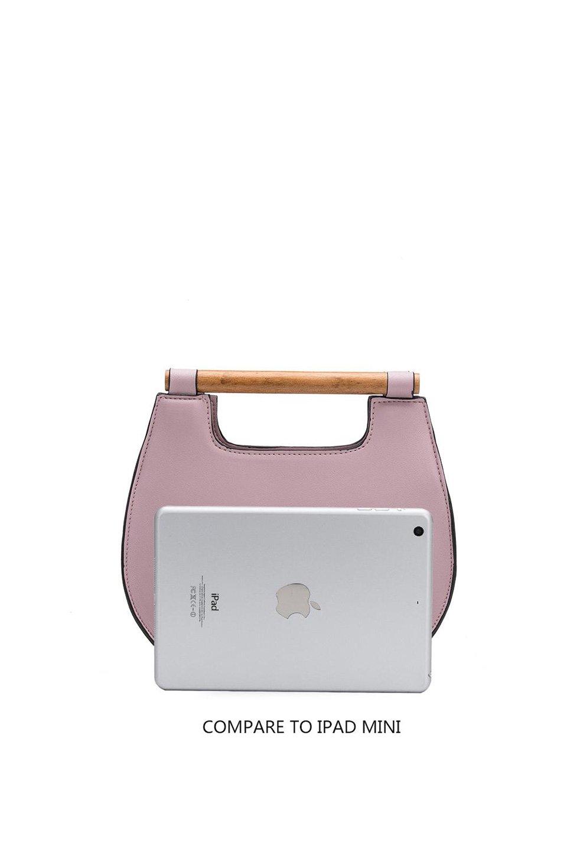 meliebiancoのIrene(Lavender)ウッドハンドル・ラウンドバッグ/海外ファッション好きにオススメのインポートバッグとかばん、MelieBianco(メリービアンコ)のバッグやハンドバッグ。木製の持ち手がシックで可愛いショルダータイプのラウンドバッグ。小ぶりに見えますがマチ幅もあり見た目以上の収納力があります。/main-8