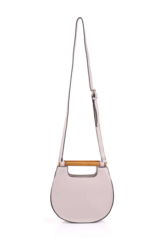 meliebiancoのIrene(Bone)ウッドハンドル・ラウンドバッグ/海外ファッション好きにオススメのインポートバッグとかばん、MelieBianco(メリービアンコ)のバッグやハンドバッグ。木製の持ち手がシックで可愛いショルダータイプのラウンドバッグ。小ぶりに見えますがマチ幅もあり見た目以上の収納力があります。/main-9
