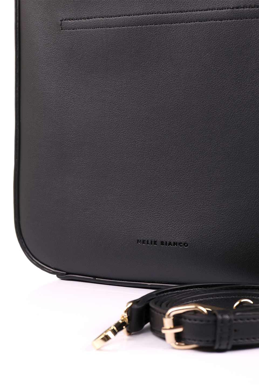 meliebiancoのEmery(Black)スクエアシルエット・ハンドバッグ/海外ファッション好きにオススメのインポートバッグとかばん、MelieBianco(メリービアンコ)のバッグやハンドバッグ。スッキリデザインのシンプルハンドバッグ。iPadなら縦でも横でもOK。/main-12