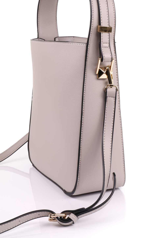 meliebiancoのEmery(Bone)スクエアシルエット・ハンドバッグ/海外ファッション好きにオススメのインポートバッグとかばん、MelieBianco(メリービアンコ)のバッグやハンドバッグ。スッキリデザインのシンプルハンドバッグ。iPadなら縦でも横でもOK。/main-8