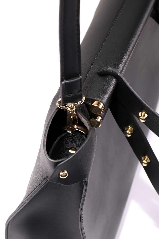meliebiancoのIsabella(Black)ストラップ付・2WAYハンドバッグ/海外ファッション好きにオススメのインポートバッグとかばん、MelieBianco(メリービアンコ)のバッグやハンドバッグ。お仕事用にも使えそうなシンプルハンドバッグ。大きめのA4ファイルもスッポリの収納力は魅力です。/main-10