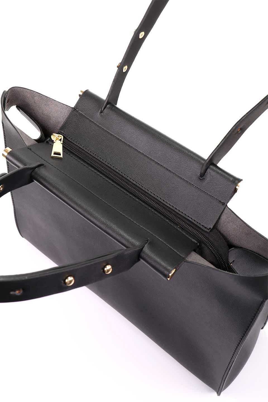 meliebiancoのIsabella(Black)ストラップ付・2WAYハンドバッグ/海外ファッション好きにオススメのインポートバッグとかばん、MelieBianco(メリービアンコ)のバッグやハンドバッグ。お仕事用にも使えそうなシンプルハンドバッグ。大きめのA4ファイルもスッポリの収納力は魅力です。/main-11