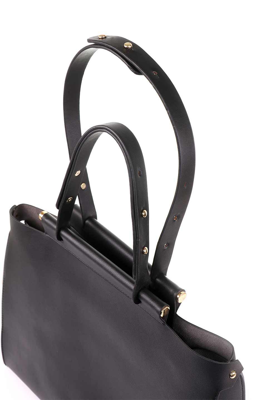 meliebiancoのIsabella(Black)ストラップ付・2WAYハンドバッグ/海外ファッション好きにオススメのインポートバッグとかばん、MelieBianco(メリービアンコ)のバッグやハンドバッグ。お仕事用にも使えそうなシンプルハンドバッグ。大きめのA4ファイルもスッポリの収納力は魅力です。/main-8