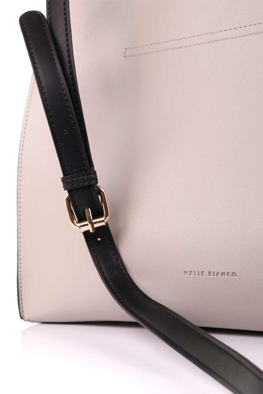 meliebiancoのIsabella(Bone)ストラップ付・2WAYハンドバッグ/海外ファッション好きにオススメのインポートバッグとかばん、MelieBianco(メリービアンコ)のバッグやハンドバッグ。お仕事用にも使えそうなシンプルハンドバッグ。大きめのA4ファイルもスッポリの収納力は魅力です。/main-10