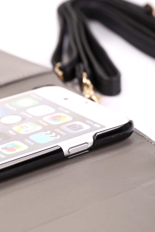 STARRYのSimple+(Black)//foriPhoneX,8,7,6s,6/iPhoneケースのレディースブランド、STARRY(スターリー)のテックアクセサリーや。モダンなデザインで大人っぽさを感じるiPhoneケース。ブラックは艶やかなエコレザーを、カーキはシックなベロア調の素材を使用しています。/main-18