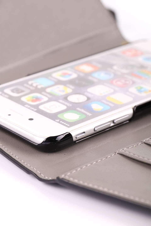 STARRYのSimple+(Black)//foriPhoneX,8,7,6s,6/iPhoneケースのレディースブランド、STARRY(スターリー)のテックアクセサリーや。モダンなデザインで大人っぽさを感じるiPhoneケース。ブラックは艶やかなエコレザーを、カーキはシックなベロア調の素材を使用しています。/main-19