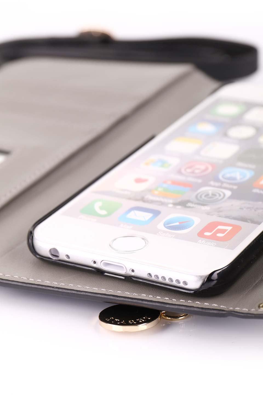 STARRYのSimple+(Black)//foriPhoneX,8,7,6s,6/iPhoneケースのレディースブランド、STARRY(スターリー)のテックアクセサリーや。モダンなデザインで大人っぽさを感じるiPhoneケース。ブラックは艶やかなエコレザーを、カーキはシックなベロア調の素材を使用しています。/main-20