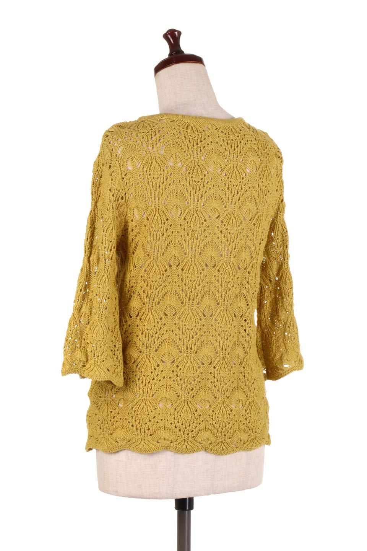 CrochetKnitHalfSleevetopカギ編みニットトップス大人カジュアルに最適な海外ファッションのothers(その他インポートアイテム)のトップスやニット・セーター。春に着たいカギ編みニットのトップス。ゆるく編み込んだニットの透け感が涼しげで初夏まで着まわせそうなニットソー。/main-13