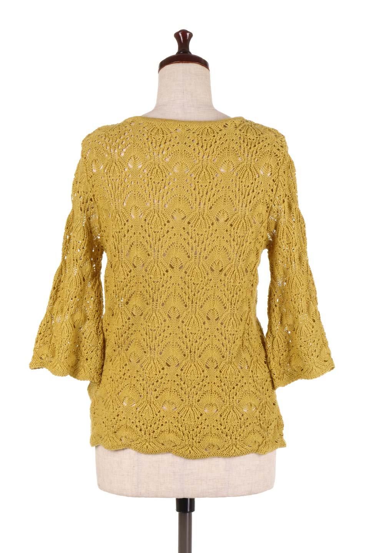 CrochetKnitHalfSleevetopカギ編みニットトップス大人カジュアルに最適な海外ファッションのothers(その他インポートアイテム)のトップスやニット・セーター。春に着たいカギ編みニットのトップス。ゆるく編み込んだニットの透け感が涼しげで初夏まで着まわせそうなニットソー。/main-14