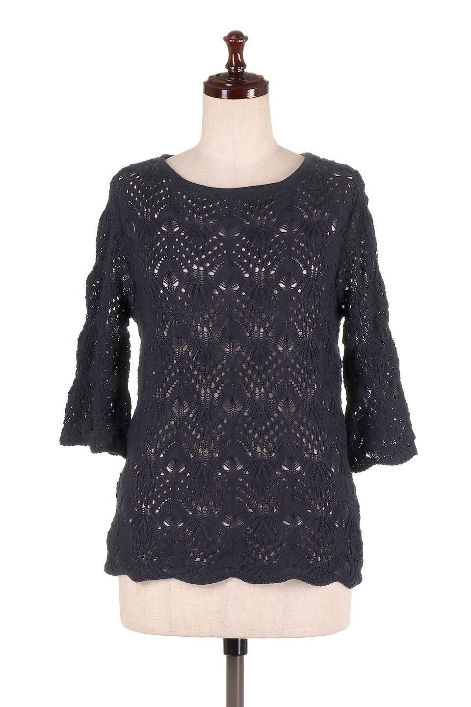 CrochetKnitHalfSleevetopカギ編みニットトップス大人カジュアルに最適な海外ファッションのothers(その他インポートアイテム)のトップスやニット・セーター。春に着たいカギ編みニットのトップス。ゆるく編み込んだニットの透け感が涼しげで初夏まで着まわせそうなニットソー。/main-15