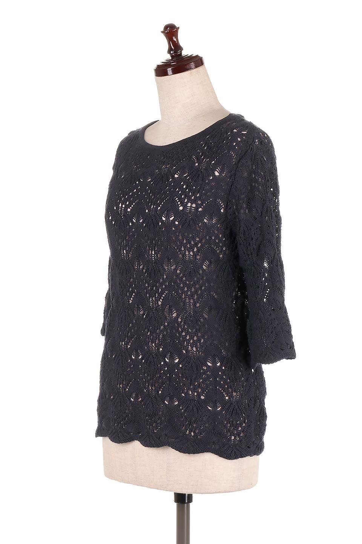CrochetKnitHalfSleevetopカギ編みニットトップス大人カジュアルに最適な海外ファッションのothers(その他インポートアイテム)のトップスやニット・セーター。春に着たいカギ編みニットのトップス。ゆるく編み込んだニットの透け感が涼しげで初夏まで着まわせそうなニットソー。/main-16