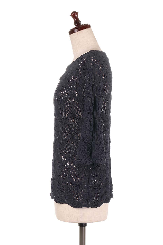 CrochetKnitHalfSleevetopカギ編みニットトップス大人カジュアルに最適な海外ファッションのothers(その他インポートアイテム)のトップスやニット・セーター。春に着たいカギ編みニットのトップス。ゆるく編み込んだニットの透け感が涼しげで初夏まで着まわせそうなニットソー。/main-17