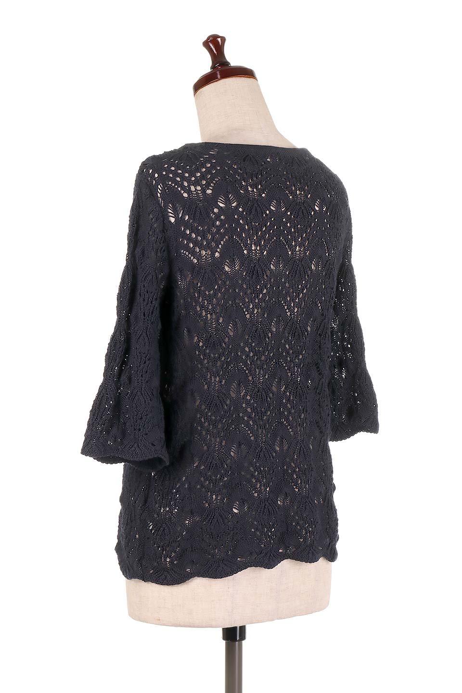 CrochetKnitHalfSleevetopカギ編みニットトップス大人カジュアルに最適な海外ファッションのothers(その他インポートアイテム)のトップスやニット・セーター。春に着たいカギ編みニットのトップス。ゆるく編み込んだニットの透け感が涼しげで初夏まで着まわせそうなニットソー。/main-18