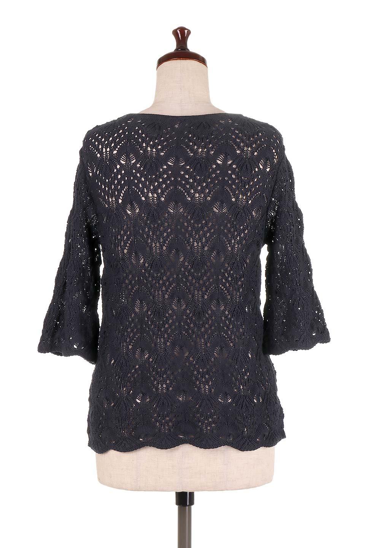 CrochetKnitHalfSleevetopカギ編みニットトップス大人カジュアルに最適な海外ファッションのothers(その他インポートアイテム)のトップスやニット・セーター。春に着たいカギ編みニットのトップス。ゆるく編み込んだニットの透け感が涼しげで初夏まで着まわせそうなニットソー。/main-19