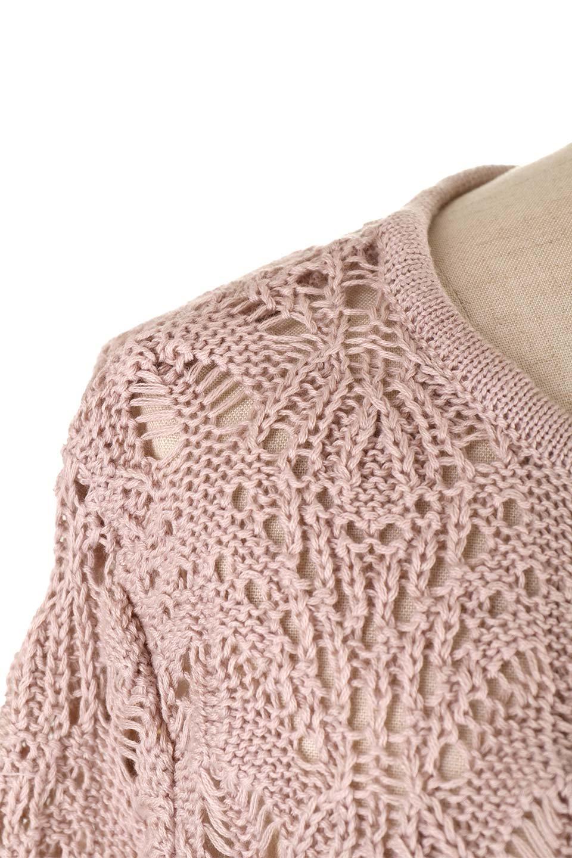 CrochetKnitHalfSleevetopカギ編みニットトップス大人カジュアルに最適な海外ファッションのothers(その他インポートアイテム)のトップスやニット・セーター。春に着たいカギ編みニットのトップス。ゆるく編み込んだニットの透け感が涼しげで初夏まで着まわせそうなニットソー。/main-22