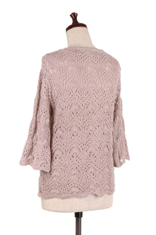 CrochetKnitHalfSleevetopカギ編みニットトップス大人カジュアルに最適な海外ファッションのothers(その他インポートアイテム)のトップスやニット・セーター。春に着たいカギ編みニットのトップス。ゆるく編み込んだニットの透け感が涼しげで初夏まで着まわせそうなニットソー。/main-8