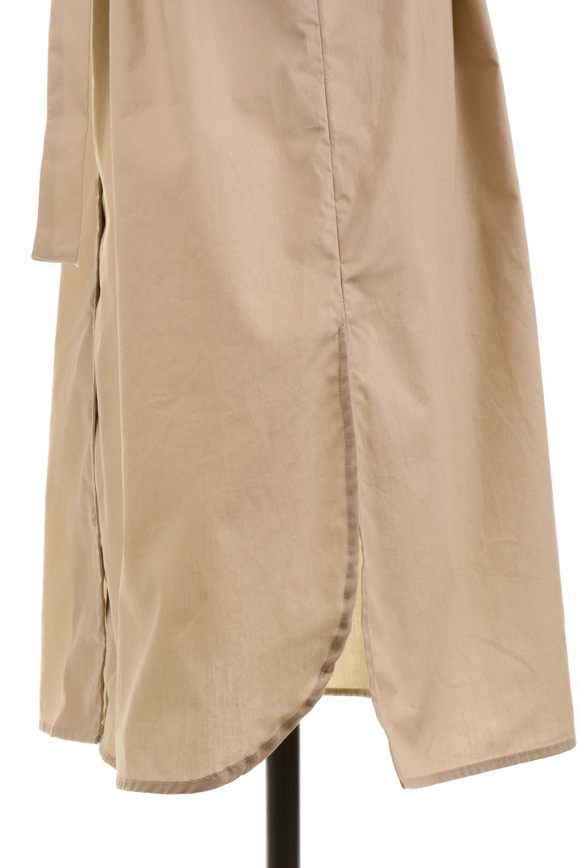 FlaredSleeveShirtDressフレアスリーブ・シャツワンピース大人カジュアルに最適な海外ファッションのothers(その他インポートアイテム)のワンピースやミディワンピース。ノーカラーブラウスをワンピにしたようなシャツブラウス。パリッとしてしっかりした生地で巣県はありません。/main-26