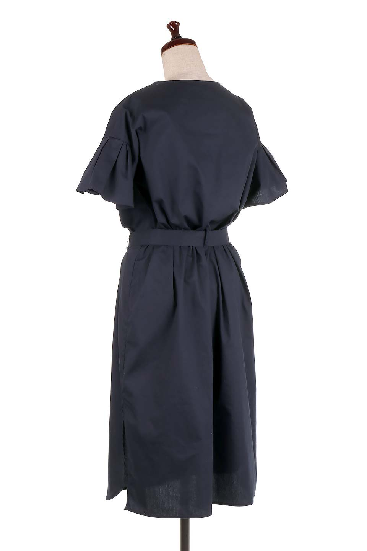 FlaredSleeveShirtDressフレアスリーブ・シャツワンピース大人カジュアルに最適な海外ファッションのothers(その他インポートアイテム)のワンピースやミディワンピース。ノーカラーブラウスをワンピにしたようなシャツブラウス。パリッとしてしっかりした生地で巣県はありません。/main-8