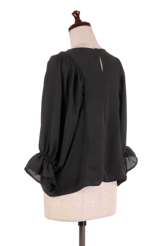 CandySleeveGatheredBlouseキャンディースリーブ・ギャザーブラウス大人カジュアルに最適な海外ファッションのothers(その他インポートアイテム)のトップスやシャツ・ブラウス。ギャザーでドレープ感を強調させたキャンディースリーブの7分袖ブラウス。ソフトなジョーゼット生地を2枚重ねた着心地の良いブラウスです。/main-18
