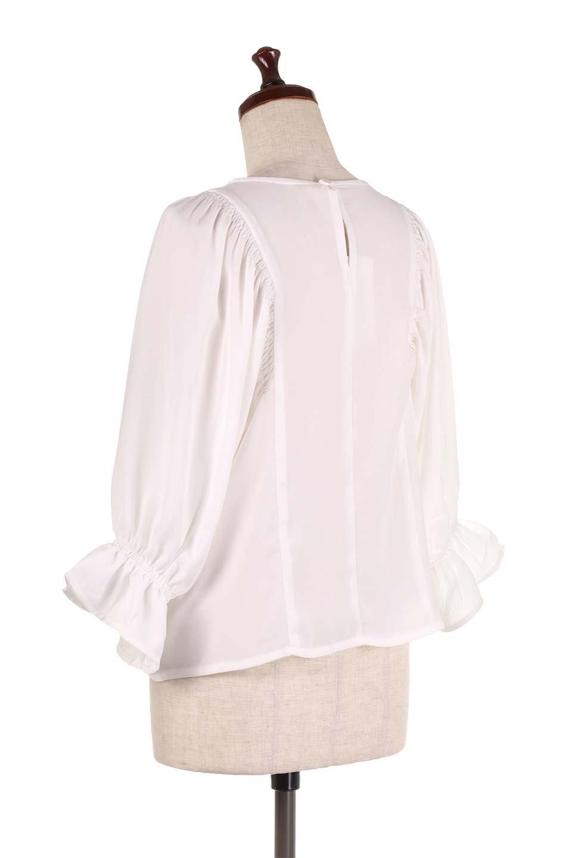 CandySleeveGatheredBlouseキャンディースリーブ・ギャザーブラウス大人カジュアルに最適な海外ファッションのothers(その他インポートアイテム)のトップスやシャツ・ブラウス。ギャザーでドレープ感を強調させたキャンディースリーブの7分袖ブラウス。ソフトなジョーゼット生地を2枚重ねた着心地の良いブラウスです。/main-8