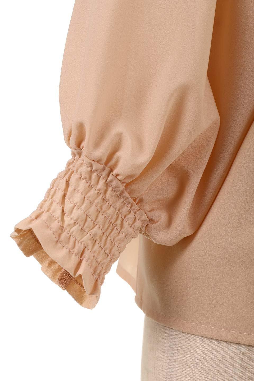 ShirredVNeckBalloonSleeveblouseバルーンスリーブブラウス大人カジュアルに最適な海外ファッションのothers(その他インポートアイテム)のトップスやシャツ・ブラウス。ドルマン風のゆったりとした袖が特徴の春ブラウス。背中から胸にかけてのシャーリングで動きやすいアイテムです。/main-24