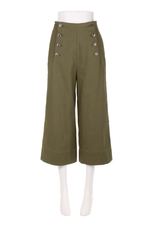 WideLegSailorPantsワイドレッグ・セイラーパンツ大人カジュアルに最適な海外ファッションのothers(その他インポートアイテム)のボトムやパンツ。フロントのボタンが可愛いセイラーパンツ。毎年人気のマリン系のコーデで大活躍間違いなしの人気アイテム。/main-10