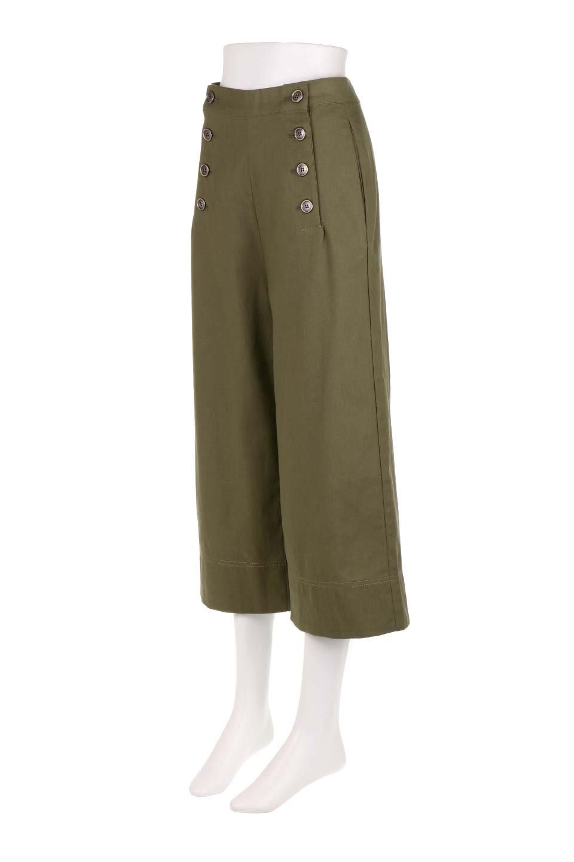 WideLegSailorPantsワイドレッグ・セイラーパンツ大人カジュアルに最適な海外ファッションのothers(その他インポートアイテム)のボトムやパンツ。フロントのボタンが可愛いセイラーパンツ。毎年人気のマリン系のコーデで大活躍間違いなしの人気アイテム。/main-11