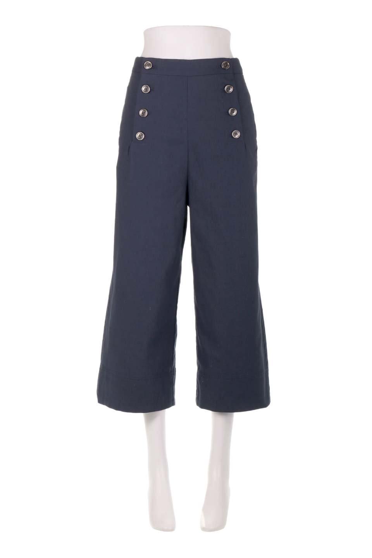 WideLegSailorPantsワイドレッグ・セイラーパンツ大人カジュアルに最適な海外ファッションのothers(その他インポートアイテム)のボトムやパンツ。フロントのボタンが可愛いセイラーパンツ。毎年人気のマリン系のコーデで大活躍間違いなしの人気アイテム。/main-15