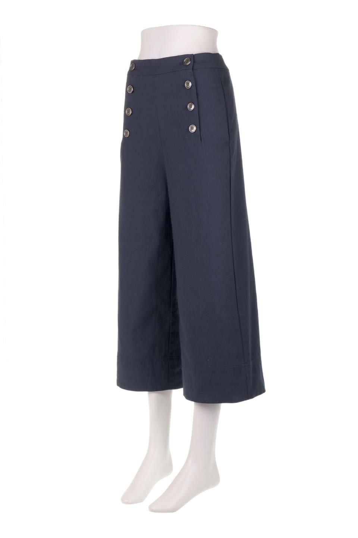 WideLegSailorPantsワイドレッグ・セイラーパンツ大人カジュアルに最適な海外ファッションのothers(その他インポートアイテム)のボトムやパンツ。フロントのボタンが可愛いセイラーパンツ。毎年人気のマリン系のコーデで大活躍間違いなしの人気アイテム。/main-16