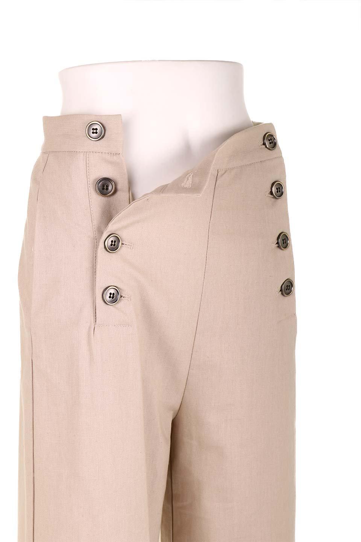 WideLegSailorPantsワイドレッグ・セイラーパンツ大人カジュアルに最適な海外ファッションのothers(その他インポートアイテム)のボトムやパンツ。フロントのボタンが可愛いセイラーパンツ。毎年人気のマリン系のコーデで大活躍間違いなしの人気アイテム。/main-21