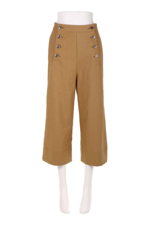 WideLegSailorPantsワイドレッグ・セイラーパンツ大人カジュアルに最適な海外ファッションのothers(その他インポートアイテム)のボトムやパンツ。フロントのボタンが可愛いセイラーパンツ。毎年人気のマリン系のコーデで大活躍間違いなしの人気アイテム。/main-5