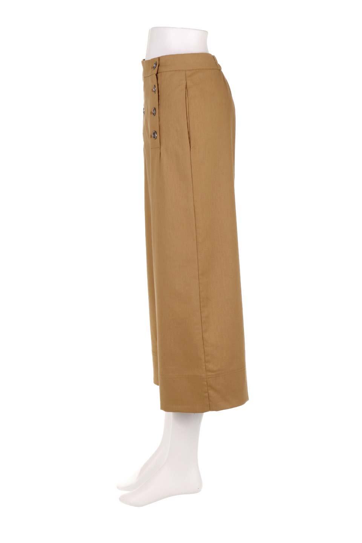 WideLegSailorPantsワイドレッグ・セイラーパンツ大人カジュアルに最適な海外ファッションのothers(その他インポートアイテム)のボトムやパンツ。フロントのボタンが可愛いセイラーパンツ。毎年人気のマリン系のコーデで大活躍間違いなしの人気アイテム。/main-7