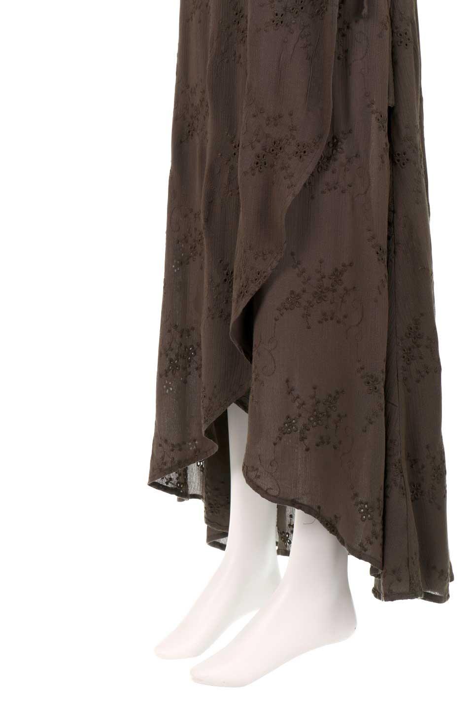 LOVESTITCHのZadieWrapSkirt総刺繍・マキシラップスカート/海外ファッションが好きな大人カジュアルのためのLOVESTITCH(ラブステッチ)のボトムやスカート。大人の夏コーデで活躍しそうなマキシ丈のラップスカート。控え目ながら全体に入った刺繍が「ちょっと高そう」感を匂わせます。/main-14