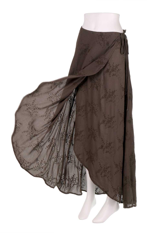 LOVESTITCHのZadieWrapSkirt総刺繍・マキシラップスカート/海外ファッションが好きな大人カジュアルのためのLOVESTITCH(ラブステッチ)のボトムやスカート。大人の夏コーデで活躍しそうなマキシ丈のラップスカート。控え目ながら全体に入った刺繍が「ちょっと高そう」感を匂わせます。/main-15