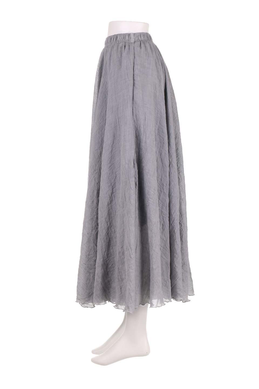 HighWaistLinenmaxiSkirtハイウエスト・リネンマキシスカートのボトムやスカート。薄手で軽やかなスカート。コーディネートのしやすさ抜群のオールマイティーなスカート。/main-12