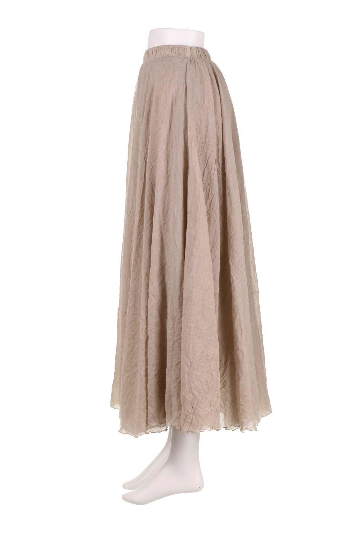 HighWaistLinenmaxiSkirtハイウエスト・リネンマキシスカートのボトムやスカート。薄手で軽やかなスカート。コーディネートのしやすさ抜群のオールマイティーなスカート。/main-22