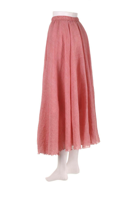 HighWaistLinenmaxiSkirtハイウエスト・リネンマキシスカートのボトムやスカート。薄手で軽やかなスカート。コーディネートのしやすさ抜群のオールマイティーなスカート。/main-33