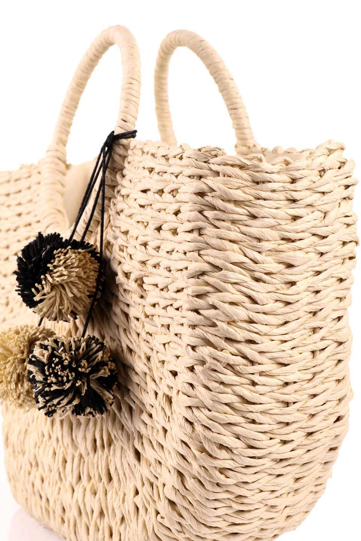 meliebiancoのErin(Natural)半円型かごバッグ/海外ファッション好きにオススメのインポートバッグとかばん、MelieBianco(メリービアンコ)のバッグやその他。真夏の太陽が恋しくなるようなオシャレなかごバッグ。持ち手から延びる放射状の網目が目を引きます。/main-10